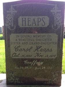 Carol Heaps headstone