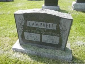 Derek Campbell headstone