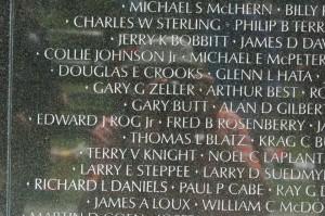 Gary Butt Vietnam Veterans Memorial Wall in DC