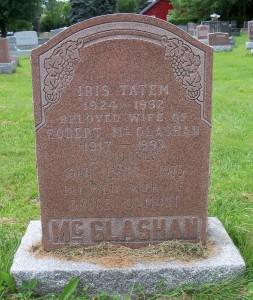 Lynn McGlashan Headstone
