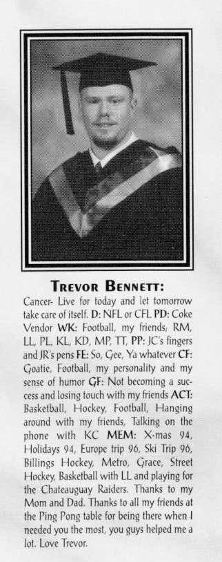 Trevor Bennett died 1996